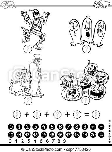 数学, 着色, ページ, 活動 - csp47753426