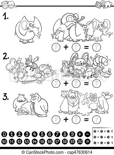 数学, 着色, ページ, 活動 - csp47630614