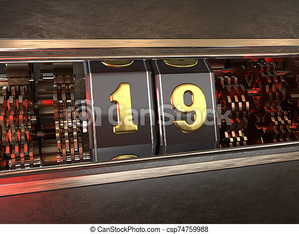 数, スロットマシン, 19, nineteen), (number, スタイル - csp74759988