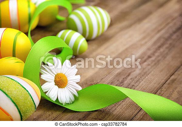 整洁, 木頭, 復活節, 安排 - csp33782784