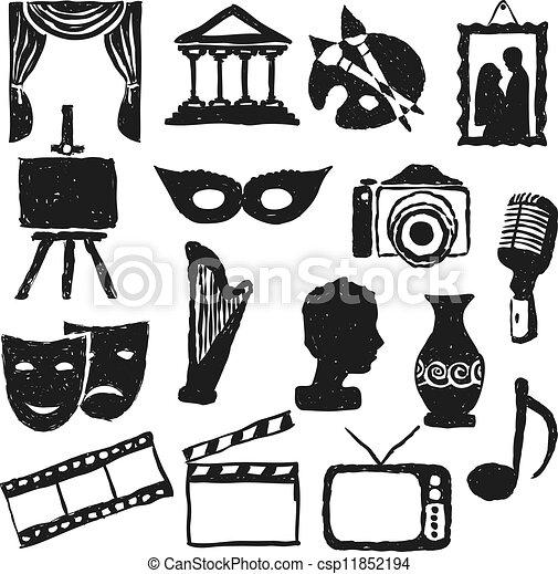 文化, いたずら書き, 映像 - csp11852194