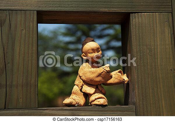 文化, 南, 伝統的である, 韓国, 人形 - csp17156163