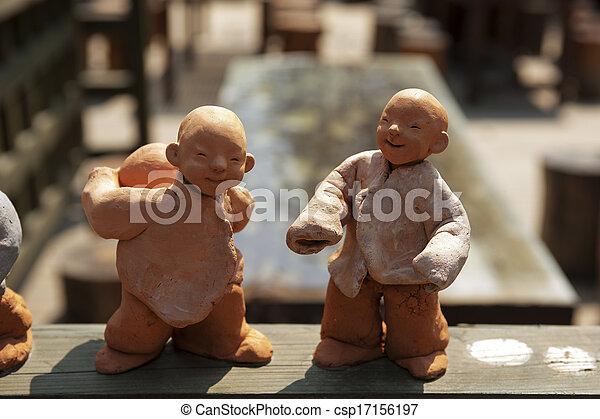 文化, 南, 伝統的である, 韓国, 人形 - csp17156197