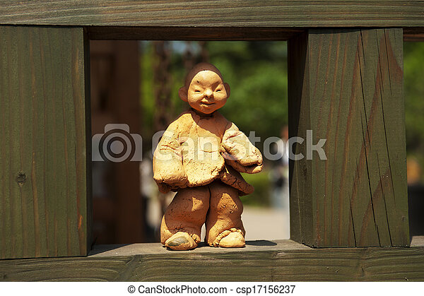 文化, 南, 伝統的である, 韓国, 人形 - csp17156237