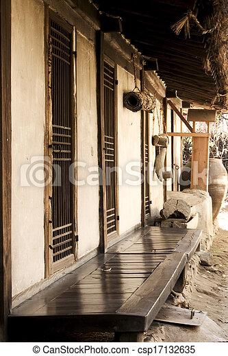 文化, 家, 南, 伝統的である, 韓国 - csp17132635