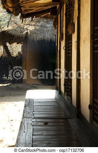 文化, 家, 南, 伝統的である, 韓国 - csp17132706