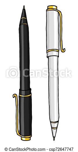 文房具, ボールペン, イラスト - csp72647747