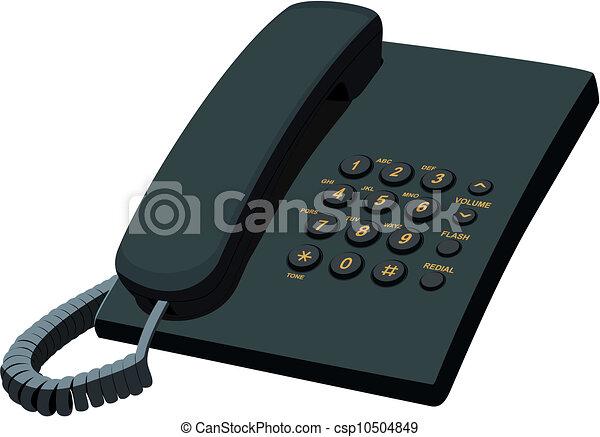 文房具, 黒い電話, オフィス - csp10504849