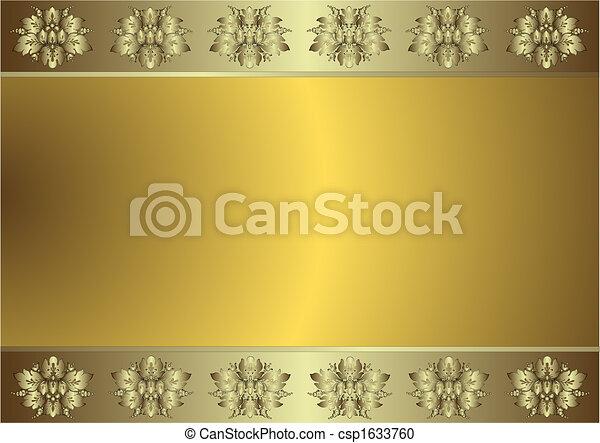 文雅, 金黃 背景, (vector), 銀色 - csp1633760