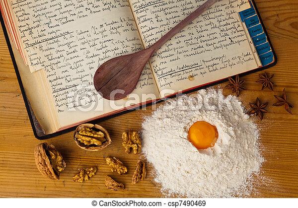 料理の本, 古い - csp7490469