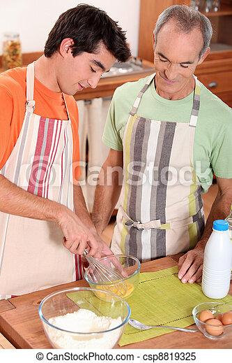 料理, 父, 息子 - csp8819325