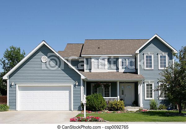 新しい, アメリカ人, 家 - csp0092765