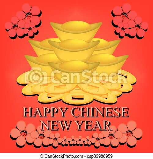 新しい, 中国語, 背景, 年 - csp33988959