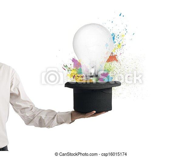 新しい, 帽子, 考え - csp16015174