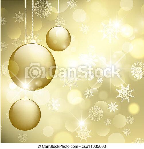 新しい, 幸せな クリスマス, 陽気, year! - csp11035663
