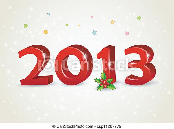 新しい, 幸せ, 2013, 年 - csp11287779
