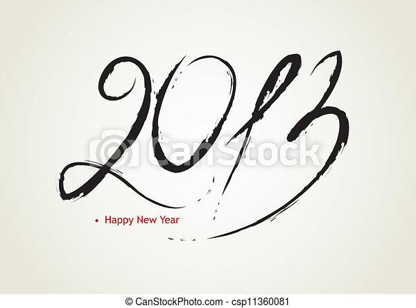 新しい, 幸せ, 2013, 年 - csp11360081