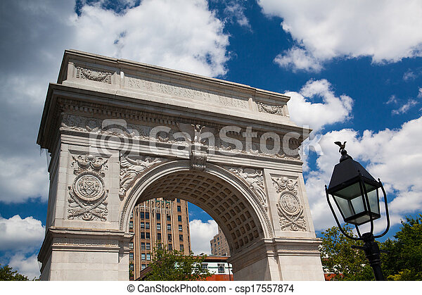 新しい, 広場, ワシントン, ヨーク, アーチ - csp17557874