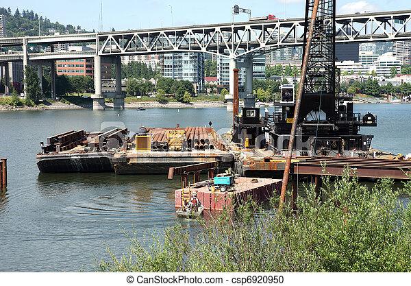 新しい, 建設, bridge., サイト - csp6920950