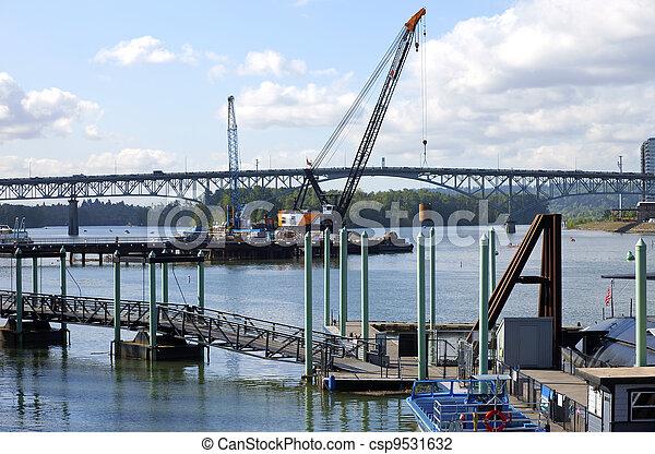 新しい, 建設, bridge. - csp9531632