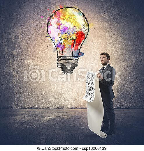 新しい 考え - csp18206139