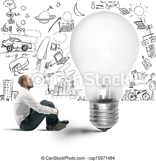 新しい 考え, ビジネスマン - csp15971484