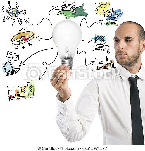 新しい 考え, ビジネスマン - csp15971577