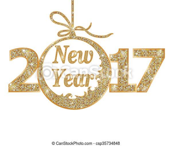 新しい, 2017, 幸せ, 年 - csp35734848