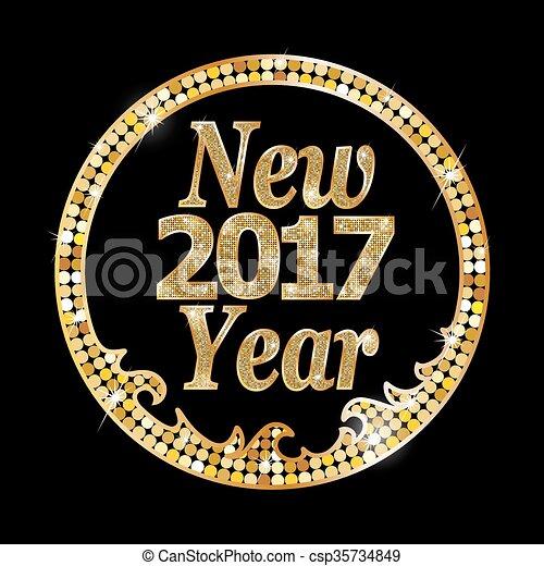 新しい, 2017, 幸せ, 年 - csp35734849