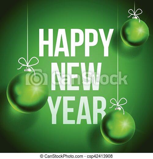 新しい, card2-02, 幸せ, 年 - csp42413908