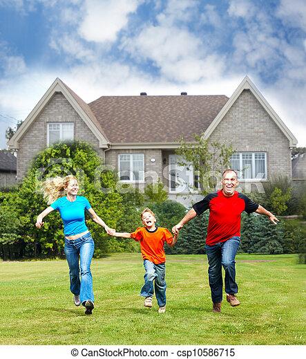 新しい, house., 家族, 幸せ - csp10586715