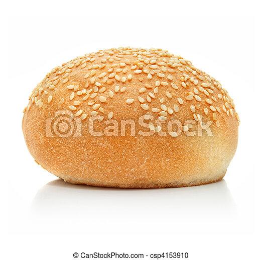新たに, ローフ, 白, 隔離された, bread - csp4153910