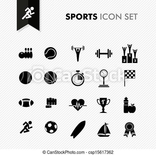 新たに, set., スポーツ, アイコン - csp15617362