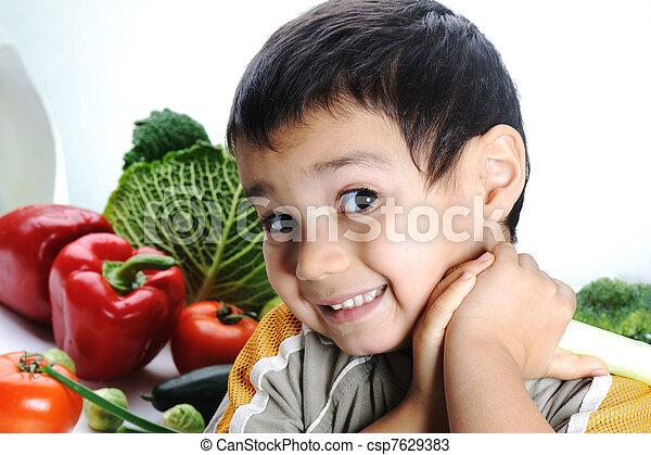 新鮮な野菜, 子供 - csp7629383