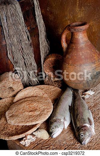 新鮮な魚, bread - csp3219372