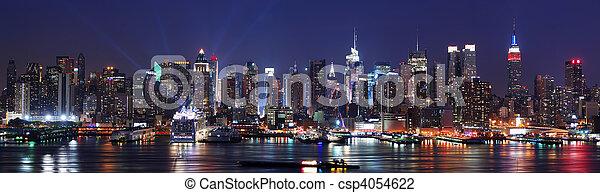 新, 地平線, 城市, 約克, 全景 - csp4054622