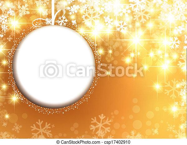 新, 聖誕節, 背景, 年 - csp17402910