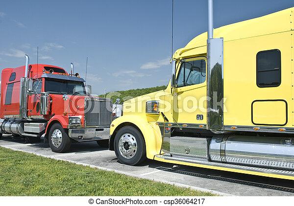 新, semi-trucks, 二 - csp36064217