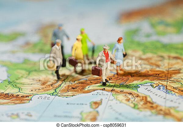 旅行観光, ヨーロッパ - csp8059631