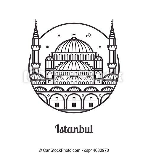 旅行, イスタンブール, アイコン - csp44630970