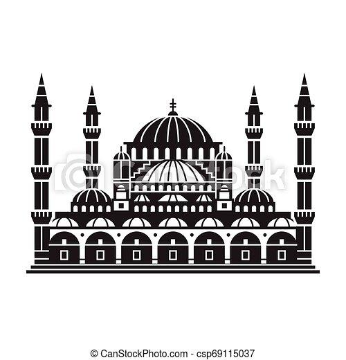 旅行, イスタンブール, アイコン - csp69115037