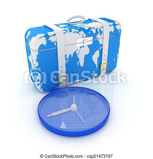 旅行, スーツケース - csp21473197