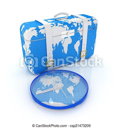 旅行, スーツケース - csp21473209