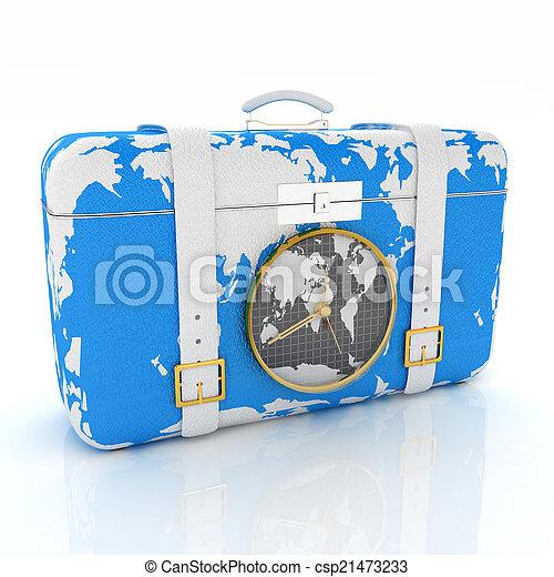 旅行, スーツケース - csp21473233