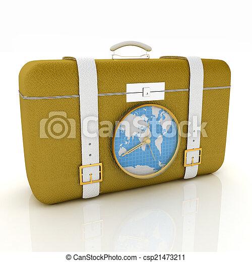 旅行, スーツケース - csp21473211