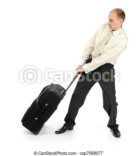 旅行, 人, ビジネス, 去ること - csp7568077