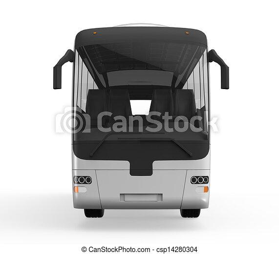 旅行, 大きい, バス, 白 - csp14280304