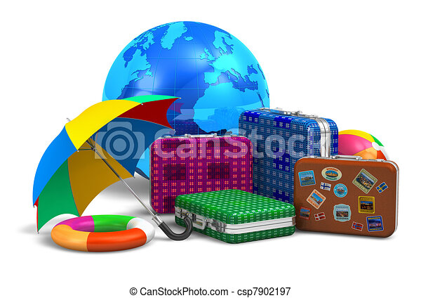旅行, 概念, 旅遊業, vcation - csp7902197