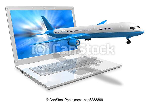 旅行, 概念, 空氣 - csp5388899
