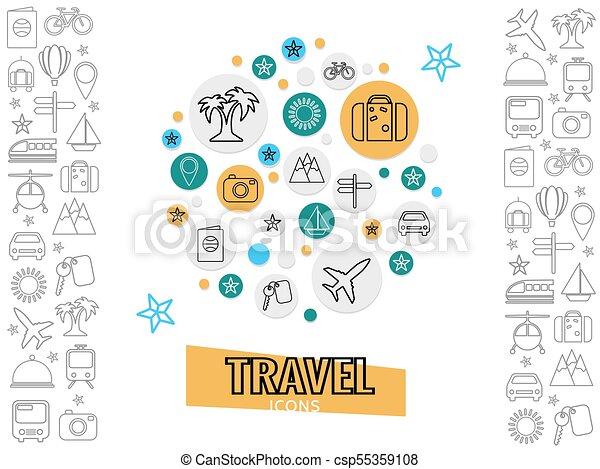旅行, 概念, 運輸 - csp55359108